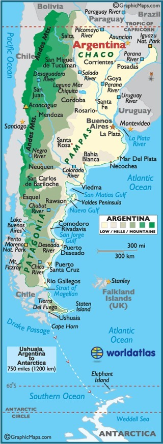 Map of Country | Argentina , Jamie Dunford | Scoop.it