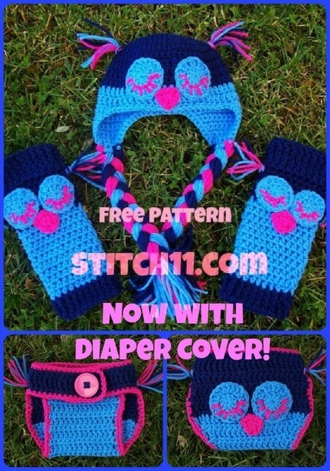 6 Month Owl Baby Legs and Hat Set | All Crochet | Scoop.it