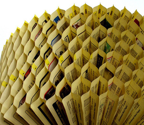 Telephone Book Hive by Kristiina Lahde #art #sculpture #paperart #paper #recycle | Luby Art | Scoop.it