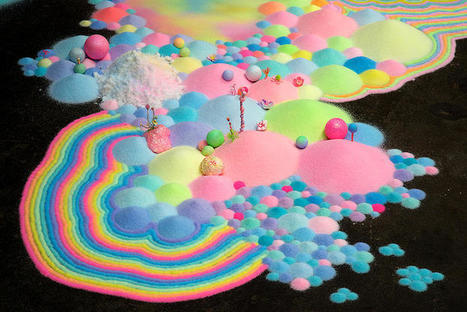 #Colourful #Psychedelic #Installations of #Sugar and #Candy by Pip & Pop #art #sweets #pattern #colour | Luby Art | Scoop.it