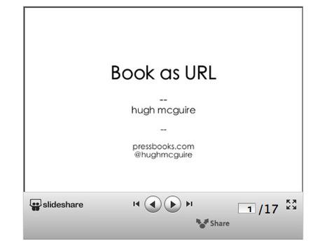 Hugh McGuire: Elk boek moet zijn eigen url hebben   BlokBoek e-zine   Scoop.it