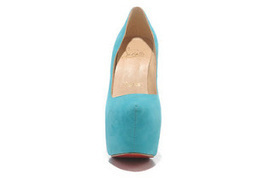 The Christian Louboutin Suede Pumps Platform fashion Sky Blue High Heels | sexy Christian Louboutin shoes | Scoop.it