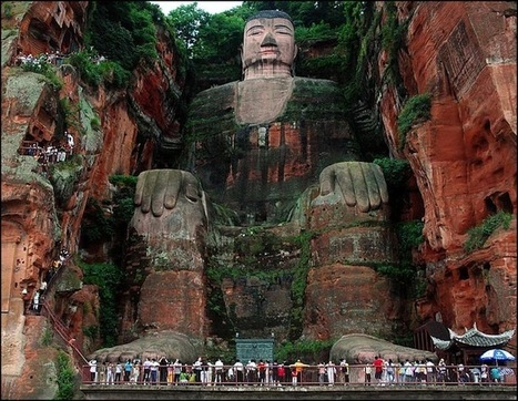 World's Largest Buddha Statue Carved into a Cliff | Ancient city | Scoop.it