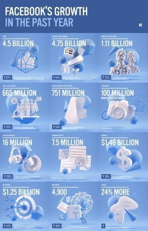 Infographie : la croissance de Facebook sur un an - Le Journal du Geek | Community Management et Curation | Scoop.it