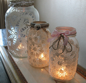 No Impact Bride: 16 Ideas for Decorating Your Wedding with Glass Jars | glass jars | Scoop.it