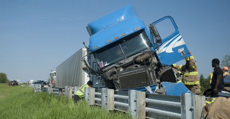 Semi truck crashes into I-94 guardrail. Wait until you hear the driver's excuse. | Truckers Daily | Scoop.it