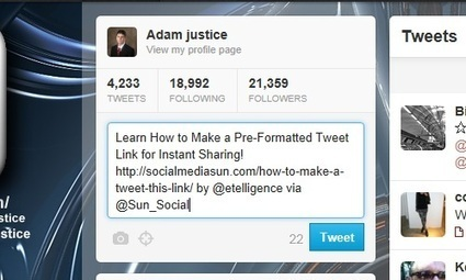 How to Make a Tweet This Link | Social Media Sun | SOCIAL MEDIA, what we think about! | Scoop.it