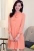 3/4 Sleeve Chiffon Shirt Dress - OASAP.com | Oasap street fashion | Scoop.it