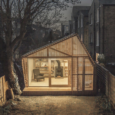 Light glows through the cedar facade of Writer's Shed by Weston Surman & Deane | Small office | Scoop.it
