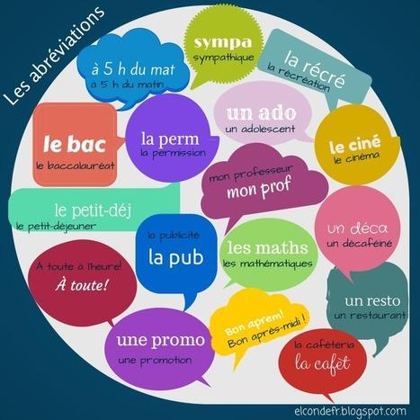 Le français familier: les abréviations | FLE en Italie | Scoop.it