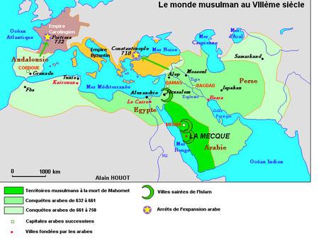 Carte du monde musulman au VIIIeme siècle | Les Héros Oubliés - Ressources documentaires | Scoop.it