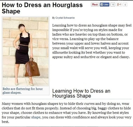 Tips on Buying from Online Clothing Boutiques: The Hourglass Figure | Pipley Boutique | Scoop.it