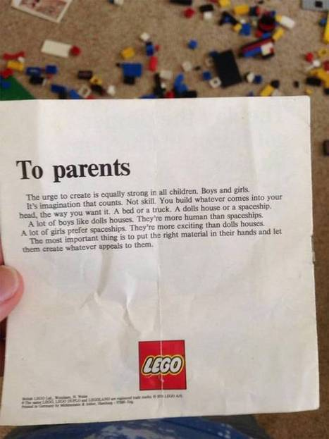 This Lego letter from the 1970s still offers a powerful message to parents 40 years later | playful learning | Scoop.it