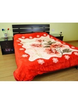 DAISY RED FLORAL MINK BLANKET bl-r07 - Shop and Buy Online at Best prices in India. | online shopping | Scoop.it