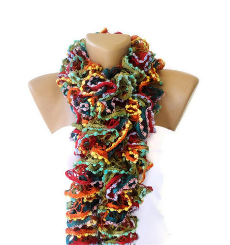 Knit Ruffled Scarf,multicolor scarf,2013 NEW TREND SCARF,accessories,gifts for her,fashion,long scarf | Knit Ruffled Scarf,multicolor scarf,2013 NEW TREND SCARF,accessories,gifts for her,fashion,long scarf | Scoop.it