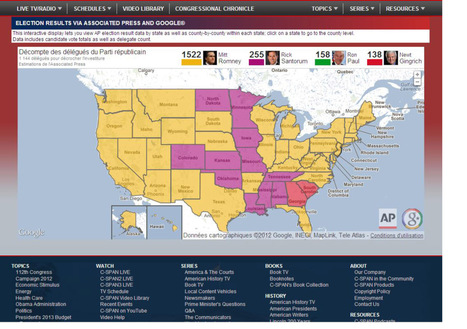Associated Press Map Campaign 2012 | data visualization US Election | Scoop.it