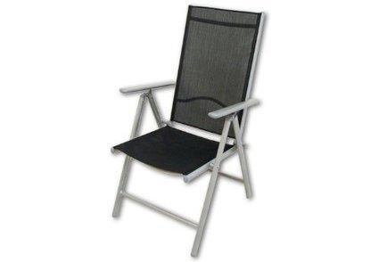 ***   2er Set Klappstuhl Aluminium Gartenstuhl Gartenstühle Klappstühle Alu schwarz | Günstig Gartenmöbel Set | Scoop.it