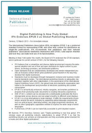La Unió Internacional d'Editors recomana l'EPUB 3 com a estàndard de publicació - Observatori Beat | Libros electrónicos | Scoop.it