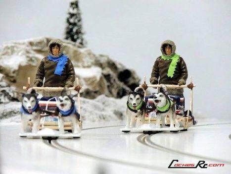 Circuito de Slot con nieve y trineos tirados por perros en lugar de coches - CochesRc.com | Modelmania | Scoop.it