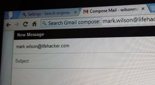 ​Compose Emails and Search Your Gmail Inbox From Chrome's Address Bar