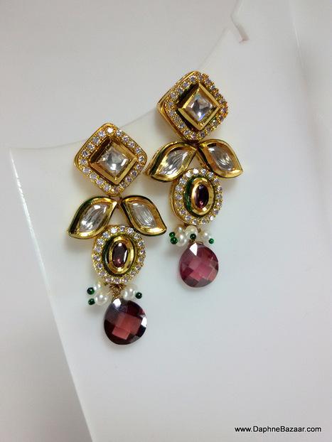Kundan Earrings | Kundan Jewelry | Scoop.it