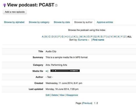 Create Podcasts in Moodle course using the Pcast plugin   Climbing the Moodle ladder   Scoop.it