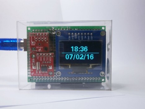 OpenSource Arduino OLED Clock with temperature measurement - Electronics-Lab | Raspberry Pi | Scoop.it