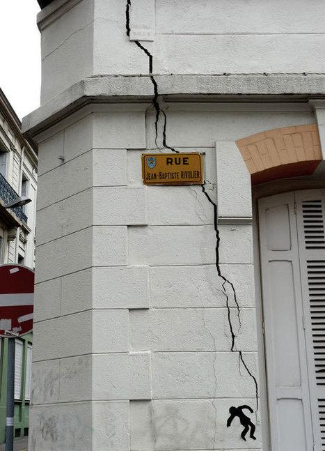 Cet artiste français vous donne le sourire à chaque coin de rue grâce à ses mises en scène délirantes   Richard and Street Art   Scoop.it
