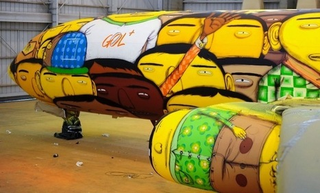 Os Gêmeos Designs Brazil's Airplane for the World Cup | contemporary artists | Scoop.it