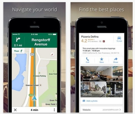 Google Maps aussi efficace sur iOS que sur Android | ITespresso.fr | cartographie et aménagement du territoire | Scoop.it