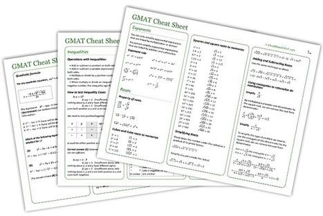 Gmat Cheat Sheet for Math Review | Gmat Test Math Prep | Scoop.it
