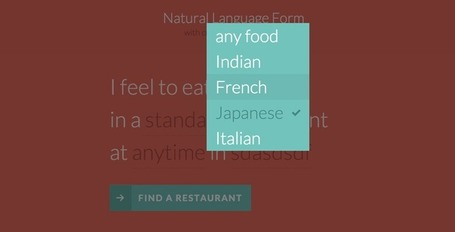 Natural Language Form with Custom Input Elements | HTML5 CSS3 | Scoop.it