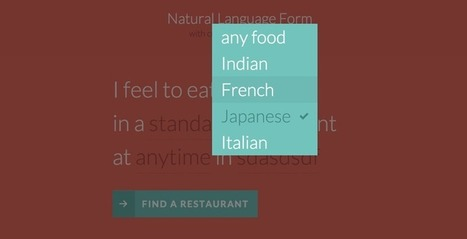 Natural Language Form with Custom Input Elements | Codrops | Formulaires HTML5, CSS3 & jQuery | Scoop.it
