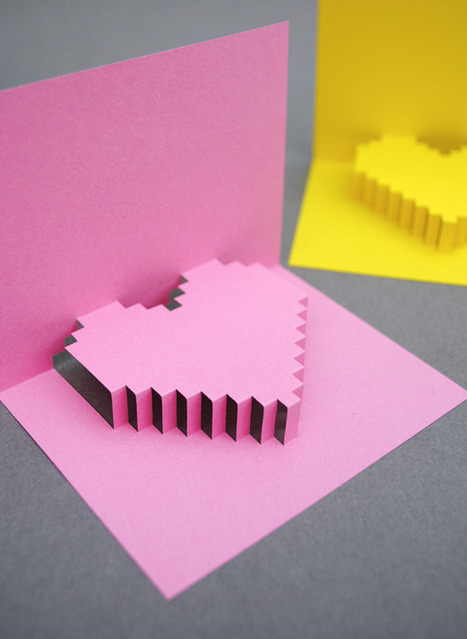 {Valentines day} pixelated popup card | Mini-eco | AIG Learners | Scoop.it