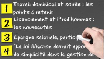 Loi Macron : ce qui va changer | L'oeil de Lynx RH | Scoop.it