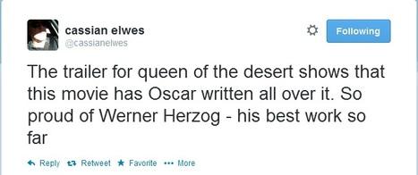 'Queen Of the Desert' Producer Says Movie Is Herzog's Best Work So Far | Robert Pattinson Daily News, Photo, Video & Fan Art | Scoop.it