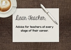 Teaching in Room 6: Dear Teacher in the Prime of Your Career | Cool School Ideas | Scoop.it