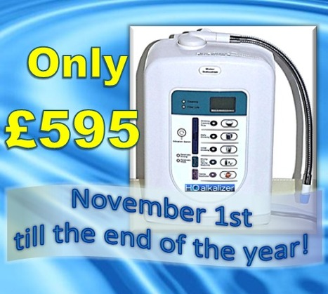 H2O Alkalizer launches flagship model water ionizer for only  £595! | The Basic Life | Scoop.it