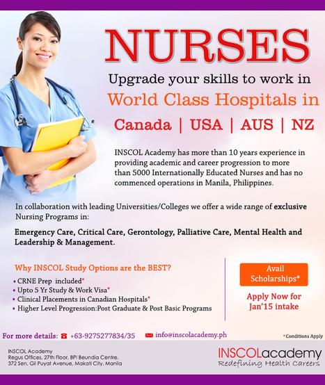 Nurses Study & Work in Canada | INSCOL Academy Canada | Scoop.it