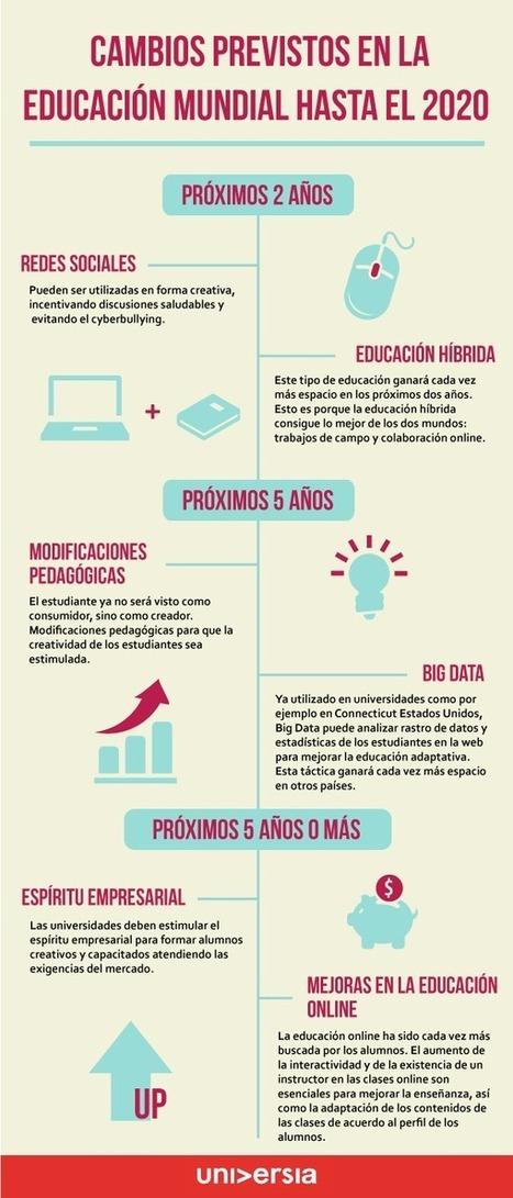 Cambios previstos en la educación hasta 2020 #infografia #infographic #educacion | Didactic plans | Scoop.it