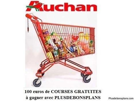 Concours Plusdebonsplans : 100 euros de courses Auchan à gagner gratuitement | Codes à foison | Scoop.it