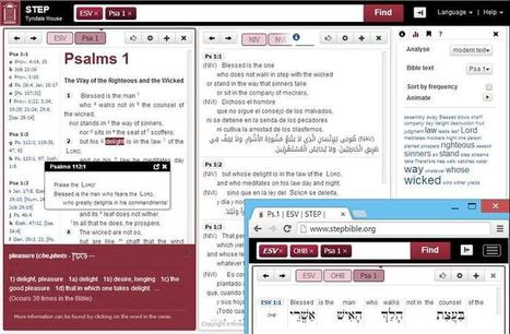 Bible Software - free from Tyndale House | Online Bible Study | Scoop.it