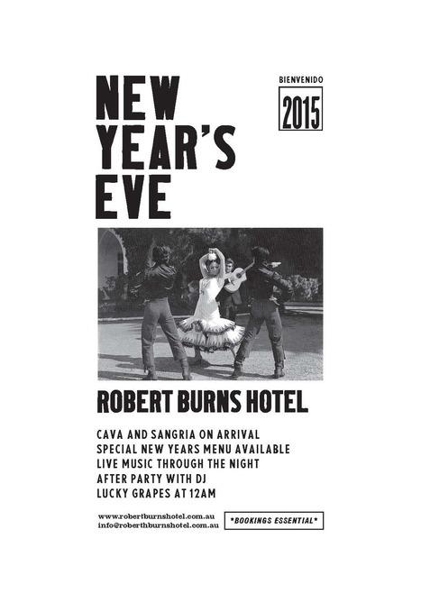 Celebrate New Years Eve at RobertBurns Melbourne | Robert Burns Hotel | Scoop.it