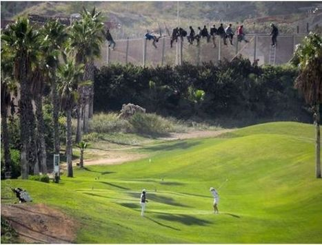 Les golfeuses et les migrants: deux mondes réunis en un cliché - RTBF Societe   danieldemonceau   Scoop.it
