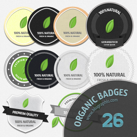 Download Fresh Organic Badges PSD files   The Official Photoshop Roadmap Journal   Scoop.it