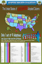 Adoptee Rights Coalition - the Fight to obtain our Original Birth Certificates: Adoption Info-graphic: OBC Access by US States | Adoptee Rights | Scoop.it