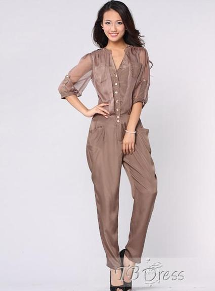 $ 95.99 Latest  New Summer Leisure Solid Color Jumpsuits | fashion | Scoop.it