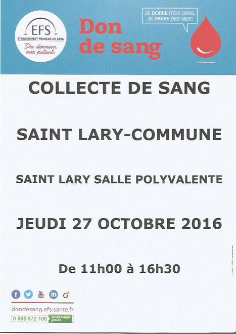 Don du sang à Saint-Lary le 27 octobre - Établissement Francais du Sang | Vallée d'Aure - Pyrénées | Scoop.it