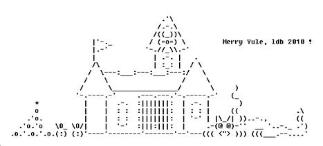 Christmas ASCII Art | Word Grrls | ASCII Art | Scoop.it