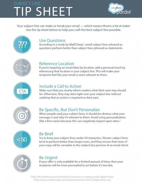 The Ultimate Subject Line Tip Sheet - Pardot | Redaccion de contenidos, artículos seleccionados por Eva Sanagustin | Scoop.it
